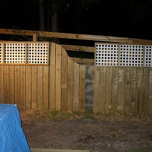 Fence in progress. Got a little curl to that pine grain on the right.