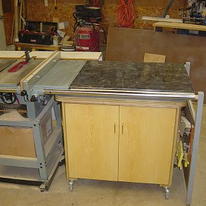 My tablesaw and rolling storage cabinet