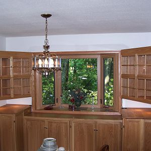 White Oak Dining Room Cabinets