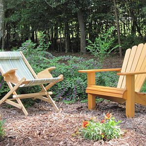 Cypress Adirondack and sling chair