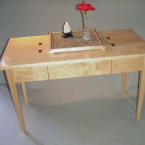 Hard Maple Lacewood butterflys low table