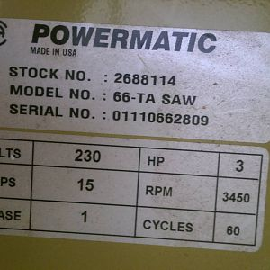 My Powermatic 66