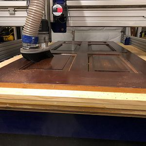 Reclaimed Mahogany Door - Sofa Table Project
