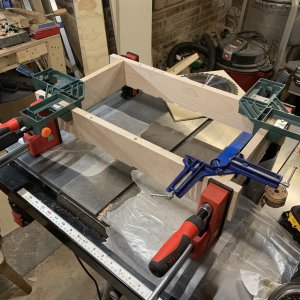 frame glue up