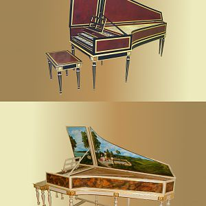 Harpsichord Collage