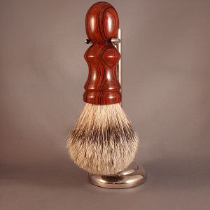 Silver Tip Badger Hair Shaving Brush with Cocobolo Handle