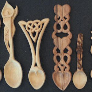 6 Carved Spoons by cskipper