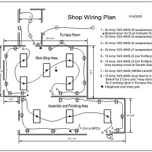 One Car Garage Woodworking Shop Layout - Woodworking Tips | Wiring Plan Home Woodshop |  | Woodworking Tips