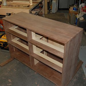 Walnut Dresser / Changing Table WIP