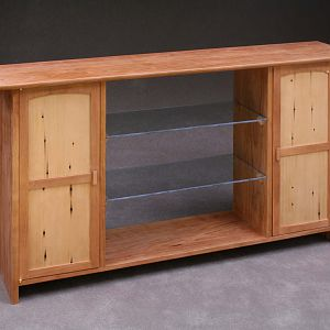 Cherry and Hemlock Wall Cabinet