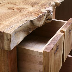Elm and Cherry Desk Closeup