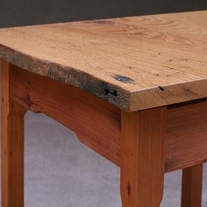 American Chestnut and Redwood End Table Closeup