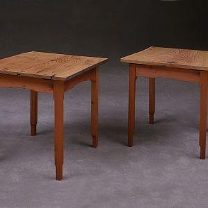 American Chestnut and Redwood End Tables