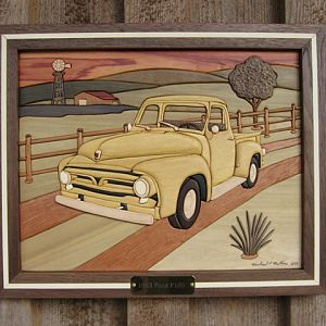 1953 Ford Pick-up Intarsia by Mike Mathieu