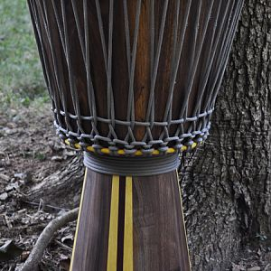 Walnut wood djembe drum
