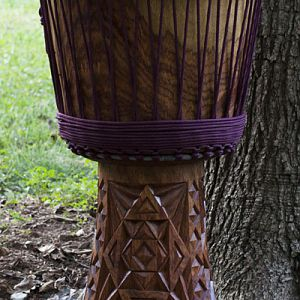 Khadi wood djembe from Guinea