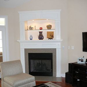 Fireplace mantel and trim