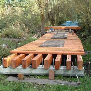 Bio Poly with extra Zinc Borate added for this wetlands bridge.