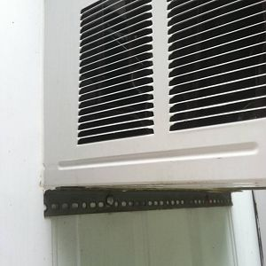 Exterior View of Window A/C Unit