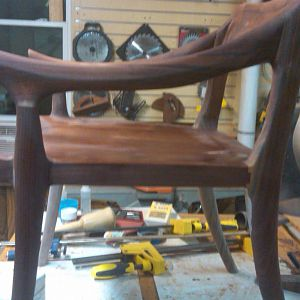 Maloof low back chair side view