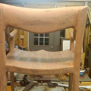 Maloof low back chair back view