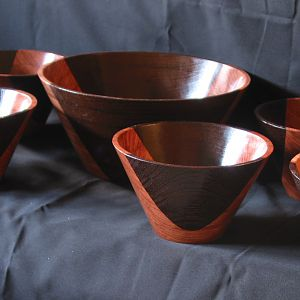 Bubinga & Wenge Salad Bowl Set