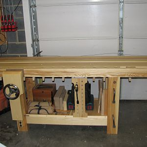 Benchcrafted Roubo Workbench Front View