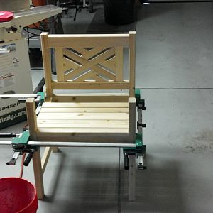 Front porch chair (cypress)