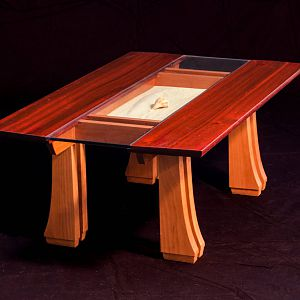 Coffee Table in Padauk and Cherry