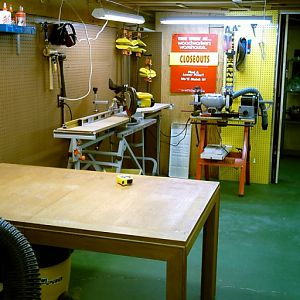 9) assembly table