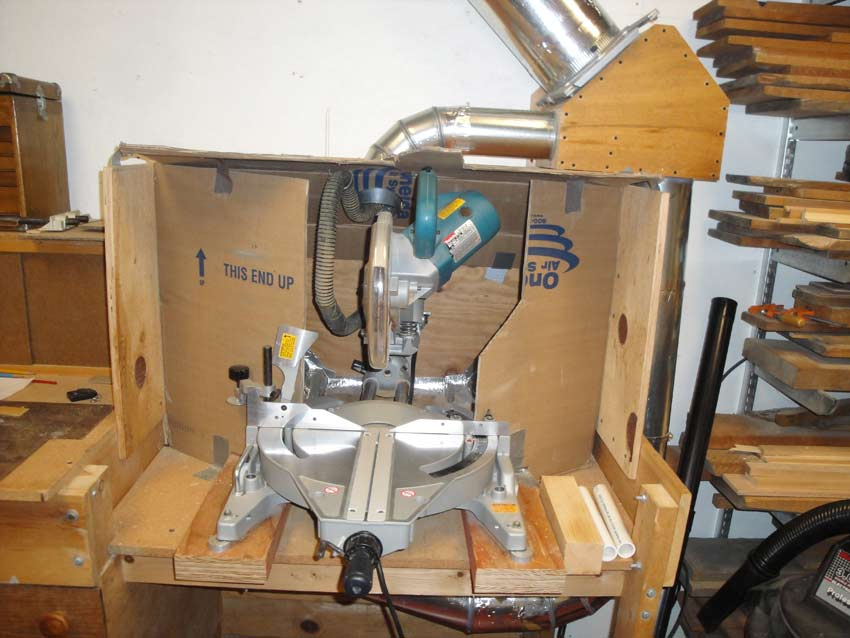 Miter Saw Dust Collection Airflow Nc Woodworker